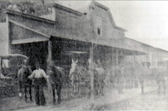 Evans and Lawler Livery Stable in Opelousas in the late 1890s.