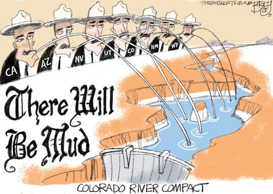 Pat Bagley drew this editorial cartoon.