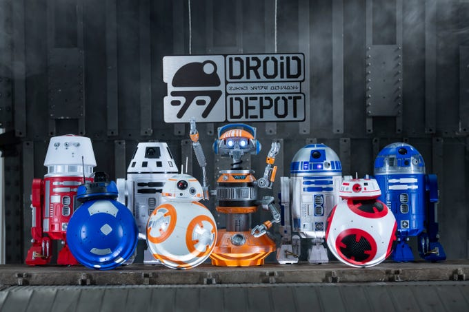 Disney guests visiting Star Wars: Galaxy's Edge will be able to stop by the Droid Depot to build their own R-series or BB-series droids that will act as a friend throughout the village of Black Spire Outpost.