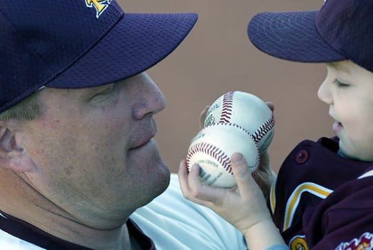 Pat Murphy and his son Kai Murphy are pictured during his time at ASU>