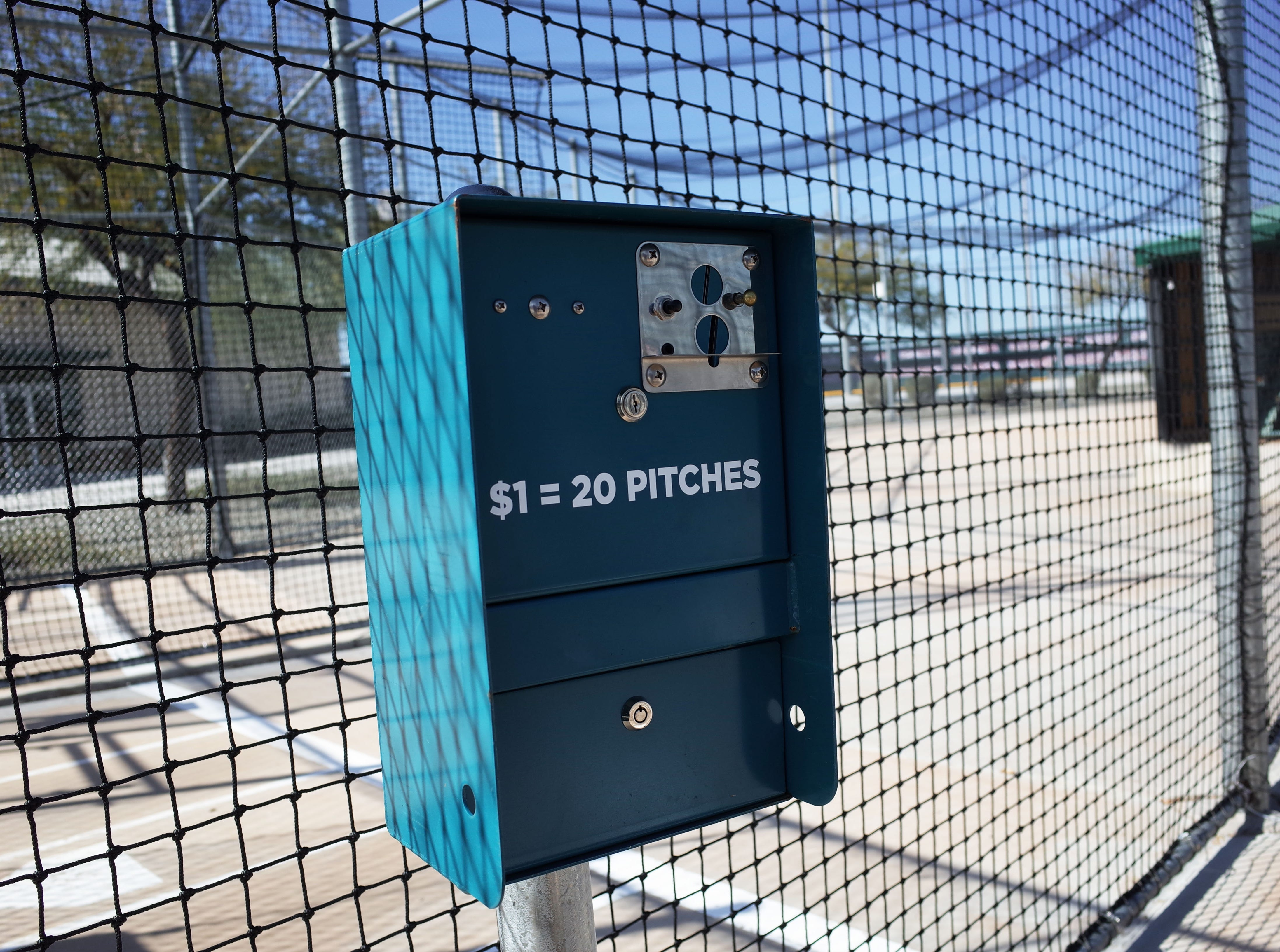Batting cages are a staple of Cactus Yards. They offer three speeds and softballs in addition to baseballs. Rates are $1 for 20 pitches.