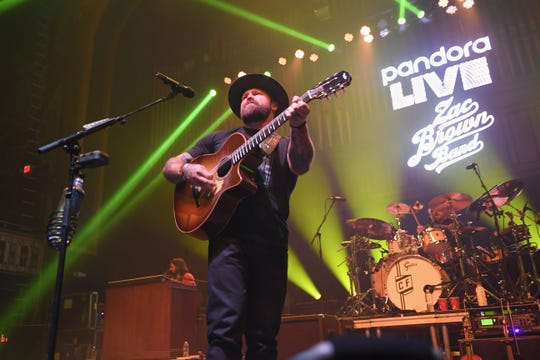 Zac Brown Band perform at the Pandora Bud Light Dive Bar at The Tabernacle on January 31, 2019 in Atlanta, Georgia.