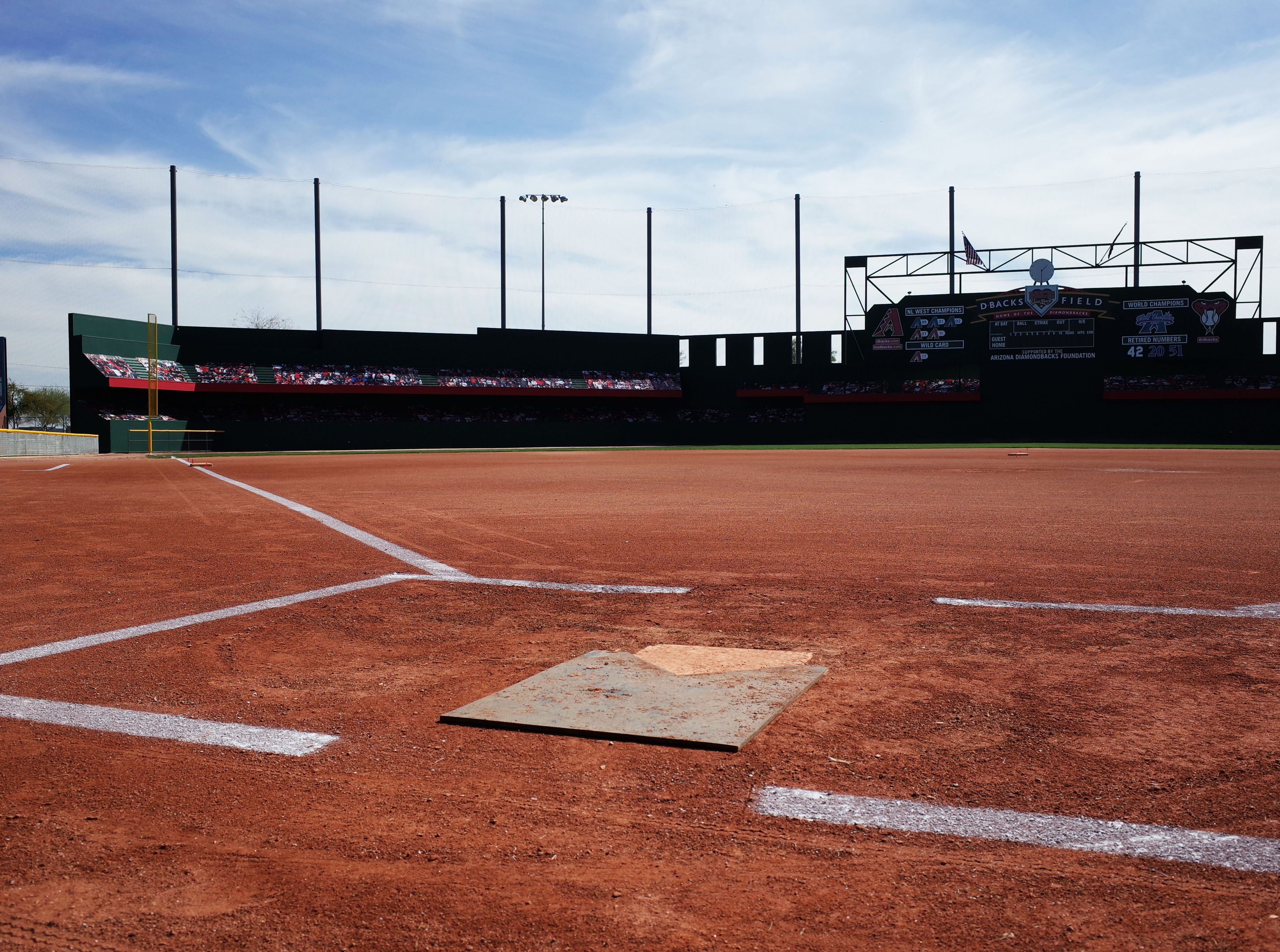Cactus Yards, nearly Elliot and Power roads in Gilbert, features eight baseball fields that are smaller replicas of Major League ballparks.