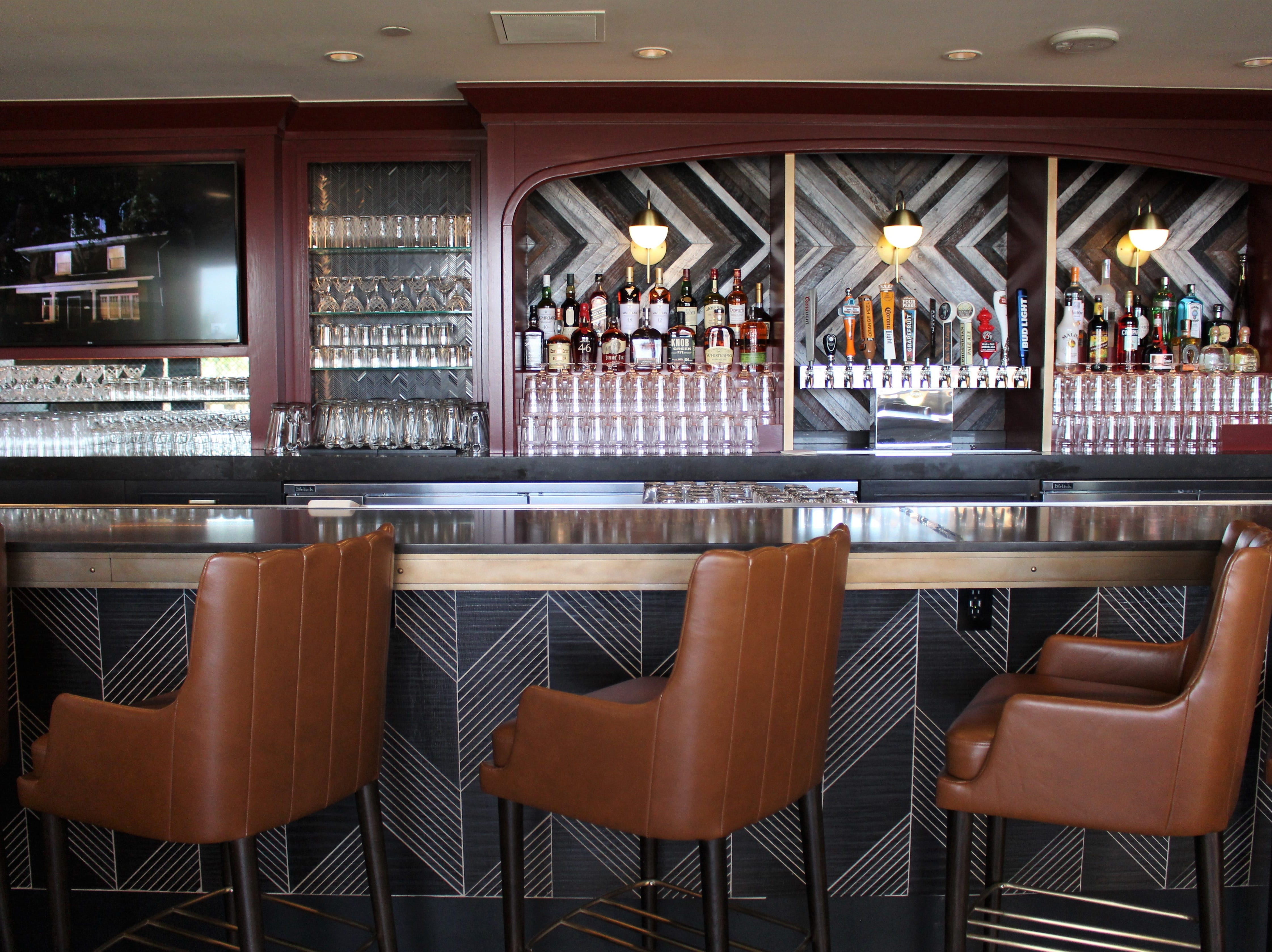 The new bar at The Phoenician Tavern, a comfortable lunch and dinner restaurant now open at the Phoenician resort.