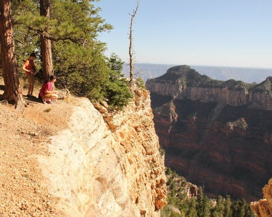At the North Rim Campground of the Grand Canyon, there is nothing between you and the canyon.