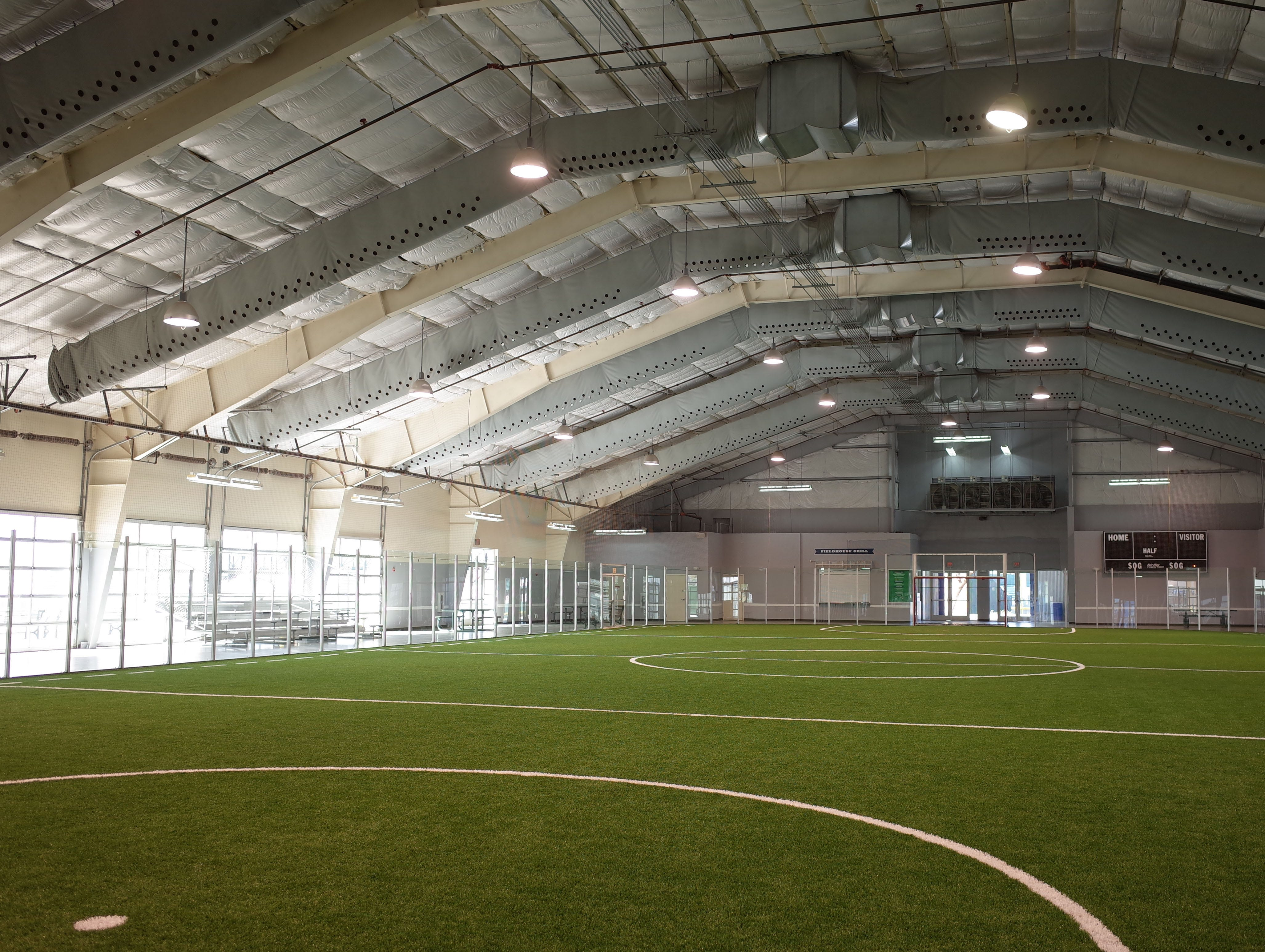 Beyond its eight ball fields, Cactus Yards has an indoor soccer arena.