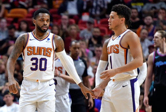Suns guard Troy Daniels scored 14 points in 17 minutes in Monday's win over the Heat.