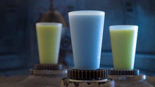 Blue Milk and Green Milk can be found in the Black Spire Outpost market inside Star Wars: Galaxy's Edge.