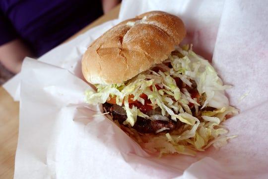 Cheddar burger at Chicago Hamburger Company in Phoenix.