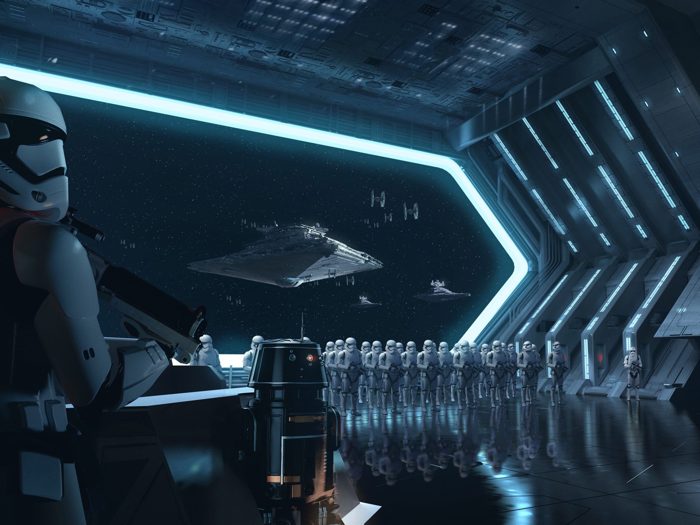Disney guests will traverse the corridors of a Star Destroyer on Star Wars: Rise of the Resistance and join an epic battle between the First Order and the Resistance.
