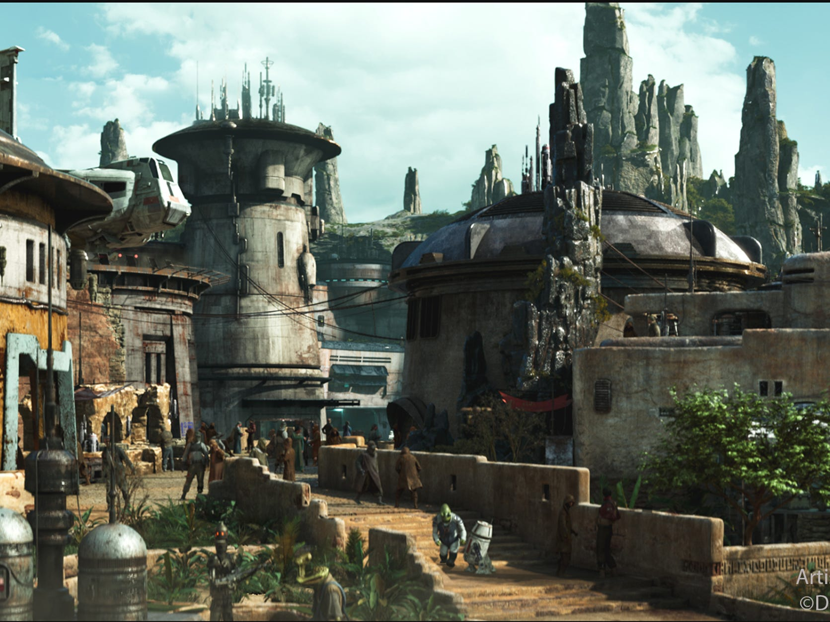 Star Wars: Galaxy's Edge will open in May 31, 2019 at Disneyland. At 14 acres each, it will be Disney's largest single-themed land expansion ever.