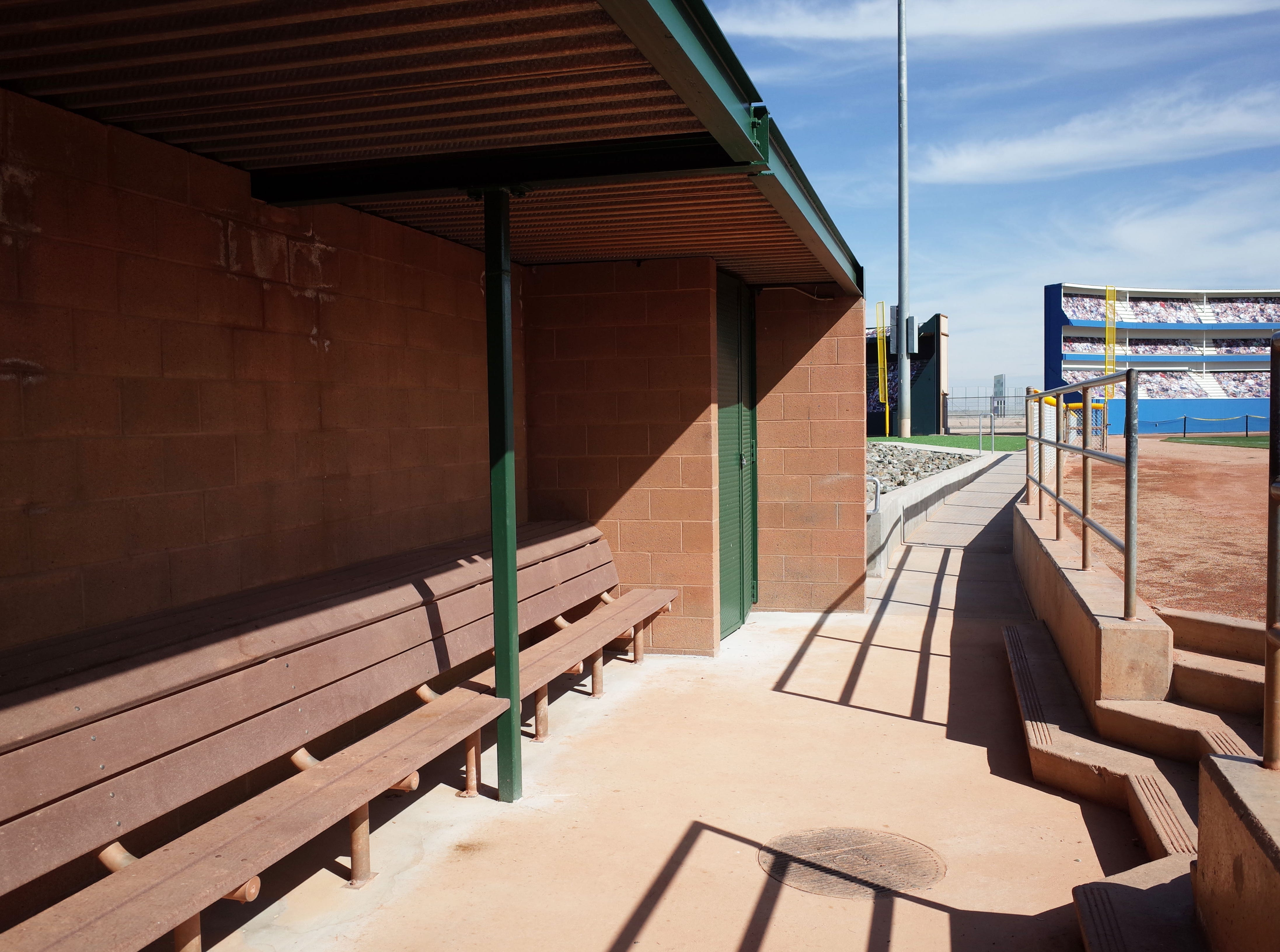 Dugouts are designed to mimic those at Major League Ballparks.