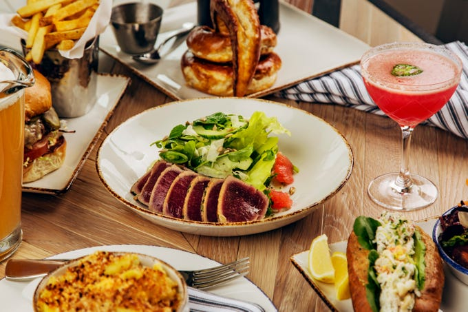 Chef de cuisine Michael Press, who joined The Phoenician in October, has put both personal and gourmet twists on the familiar fare at the Phoenician Tavern.
