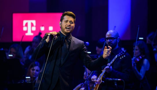 Michael Buble performs during the Telekom Street Gigs at Wappenhalle on December 4, 2018 in Munich, Germany.