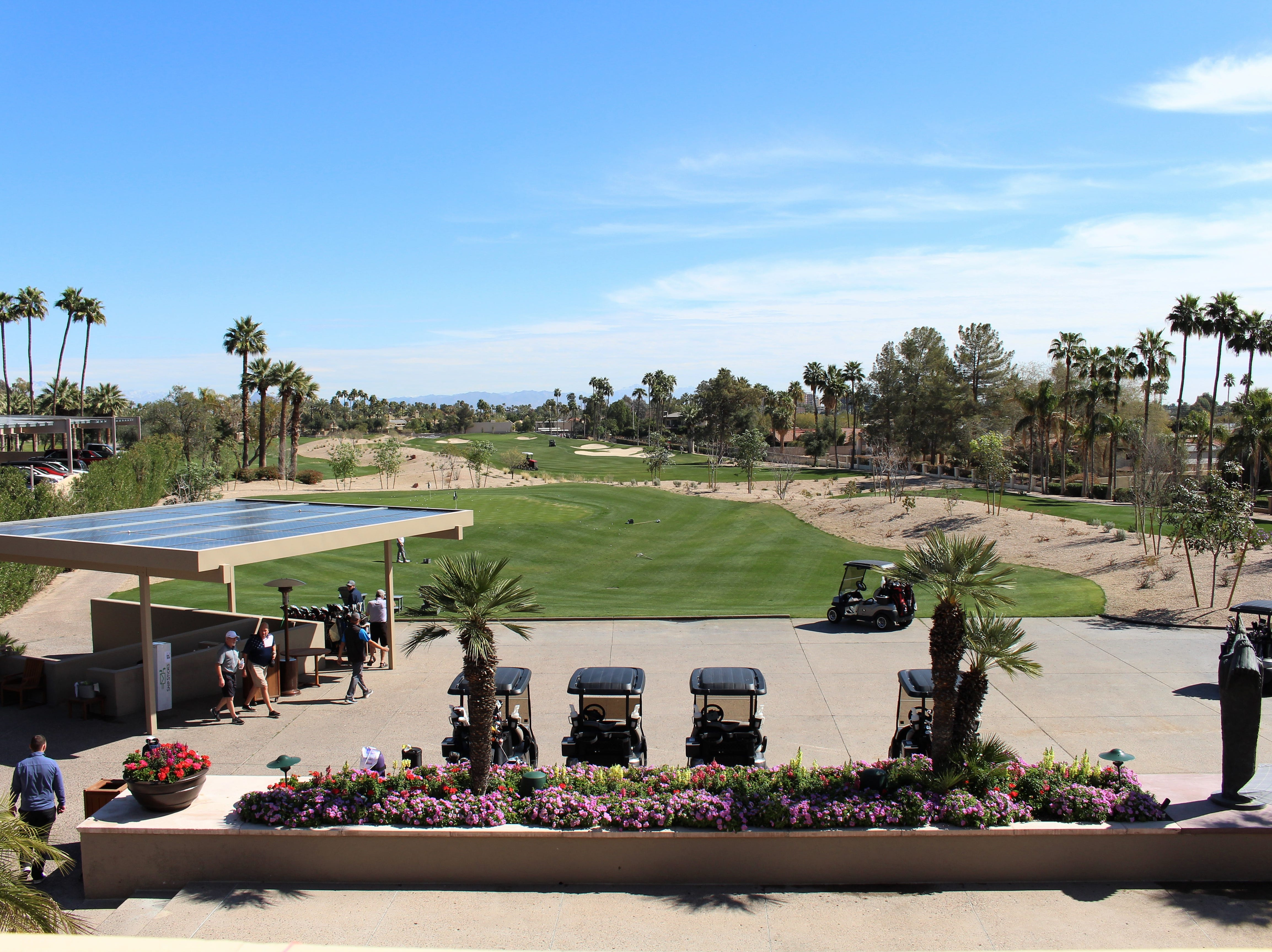 View of the newly renovated golf course from The Phoenician Tavern.