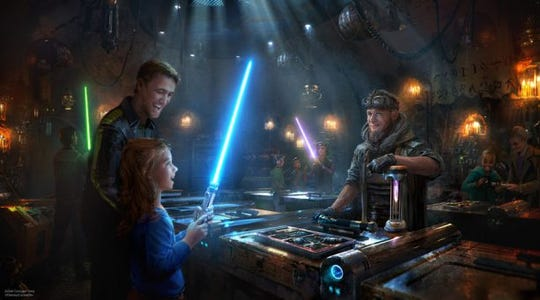 Visitors to Star Wars: Galaxy's Edge at Disneyland and Disney World will be able to find the perfect lightsaber chosen just for them.