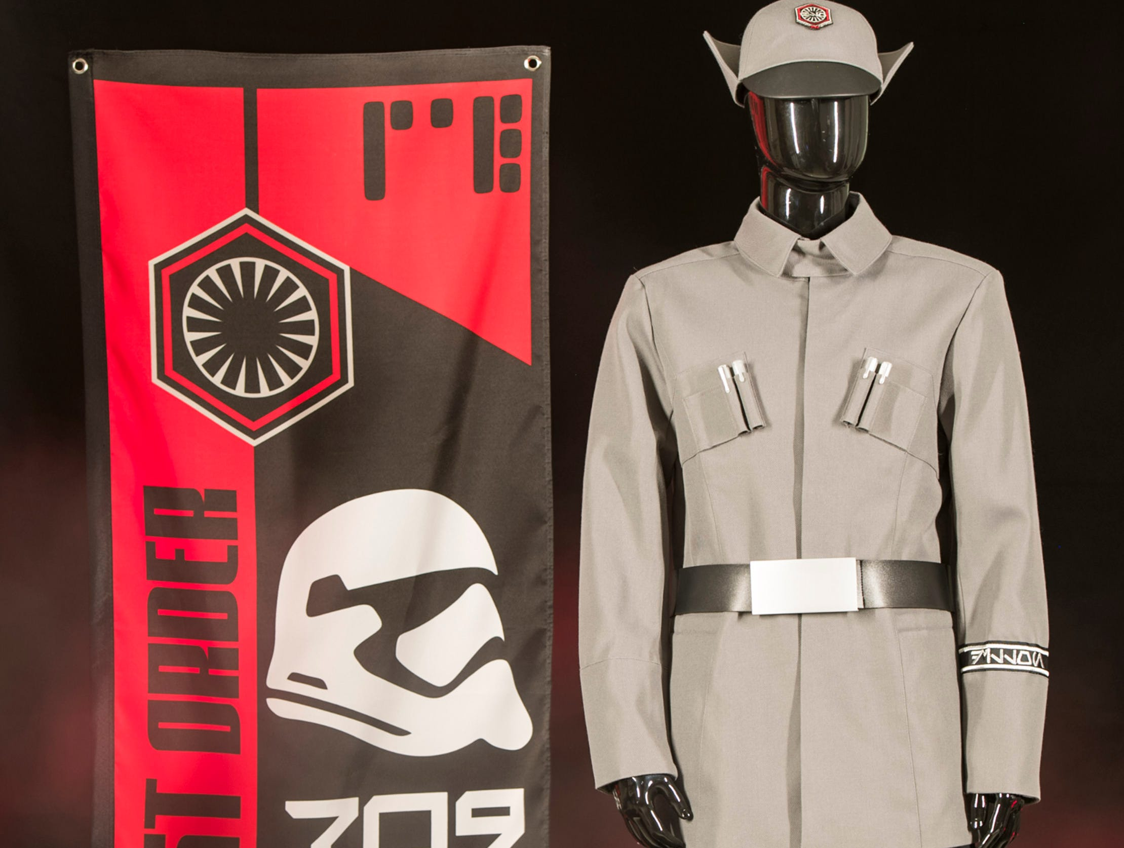 At Black Spire Outpost in Star Wars: Galaxy's Edge, guests wanting to showcase their allegiance to the First Order will be able to choose among the gear and supplies that the 709th Legion brought with them to First Order Cargo.