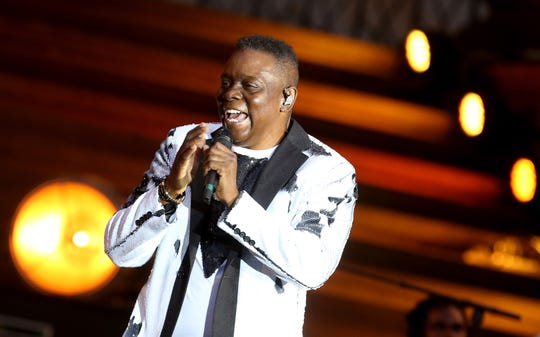 Philip Bailey of Earth, Wind and Fire performs during Classic Open Air at Gendarmenmarkt on July 9, 2018 in Berlin, Germany.