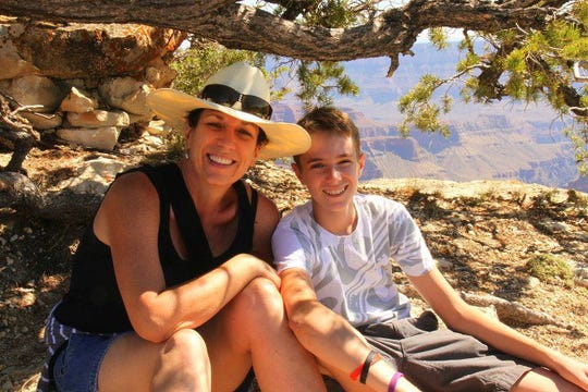At the Grand Canyon in 2012 with my son Sawyer.
