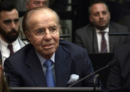 Carlos Menem, ex presidente de Argentina.