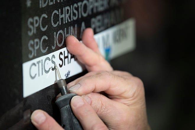 Memorial Wall Engraving IHO CTICS Shannon Kent - 2019