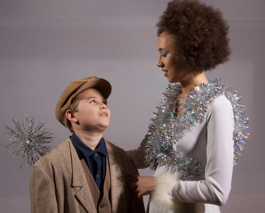 """Brock Gilson and Brynn Walker rehearse a scene in """"Snow Queen."""" TAFE's production is March 8-10."""