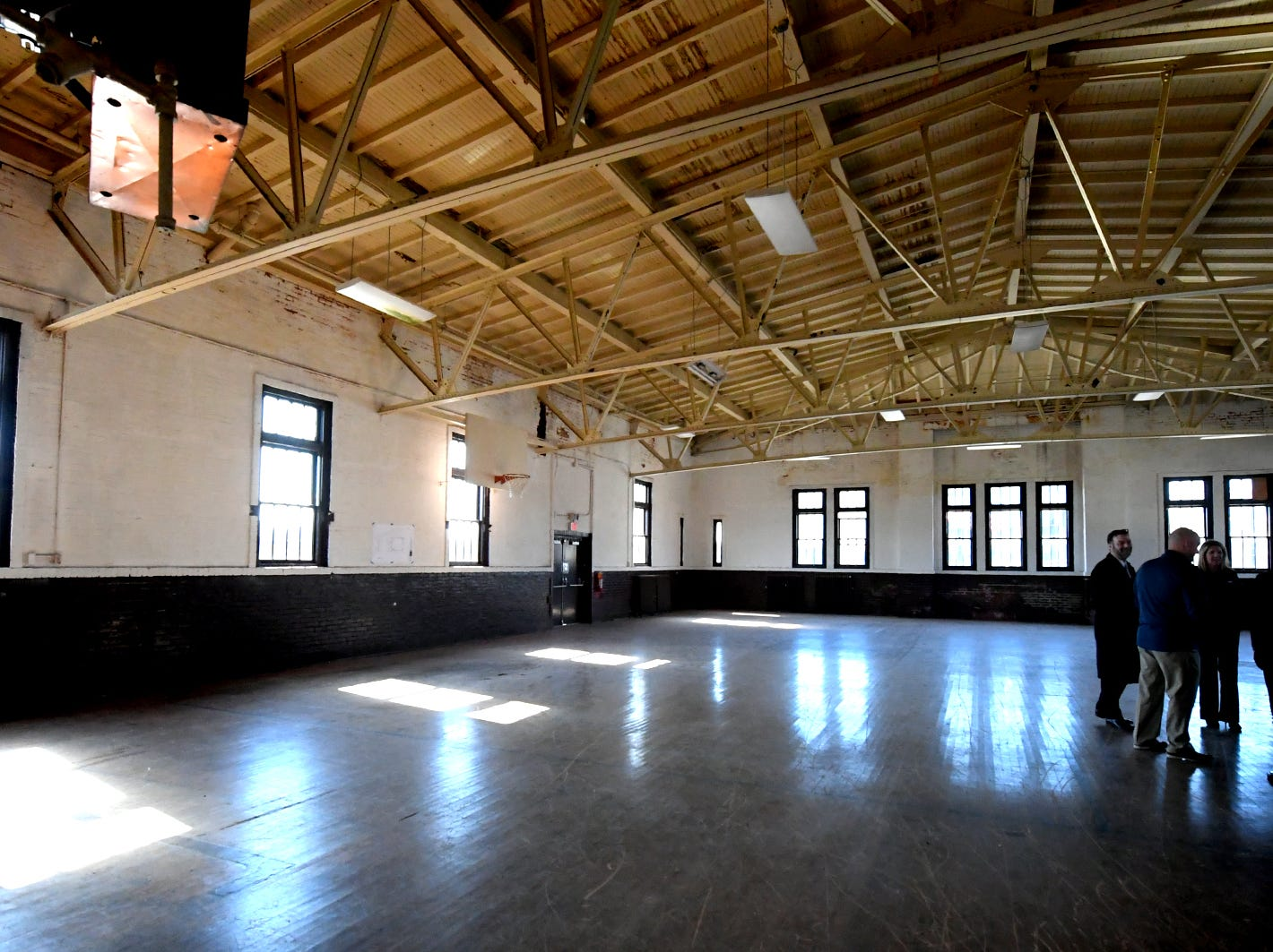 An interior view of the upstairs gymnasium at the vacant York Armory Thursday, Feb. 28, 2019. Keystone Kidspace founders announced a $6 million capital campaign during a press event there, to transform the building into an experiential learning center. Construction is slated to start this summer with an opening date of summer 2020. Bill Kalina photo