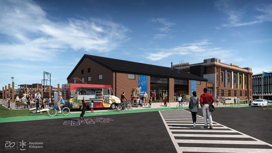 An artist's rendition of Keystone Kidspace. Founders announced a $6 million capital campaign during a press event at the York Armory Thursday, Feb. 28, 2019, to transform the building into an experiential learning center. Construction is slated to start this summer with an opening date of summer 2020. submitted photo