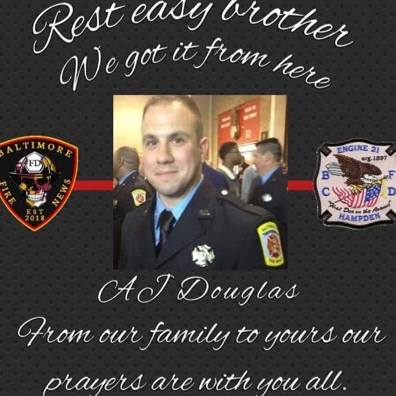 Dover Twp. resident and Baltimore firefighter remembered