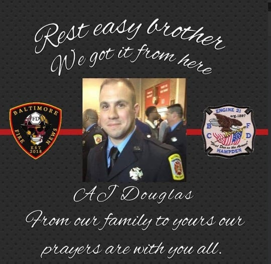 Dover Township resident and Baltimore City Firefighter Andrew J. Douglas is remembered. Douglas died Sunday, Feb. 24.