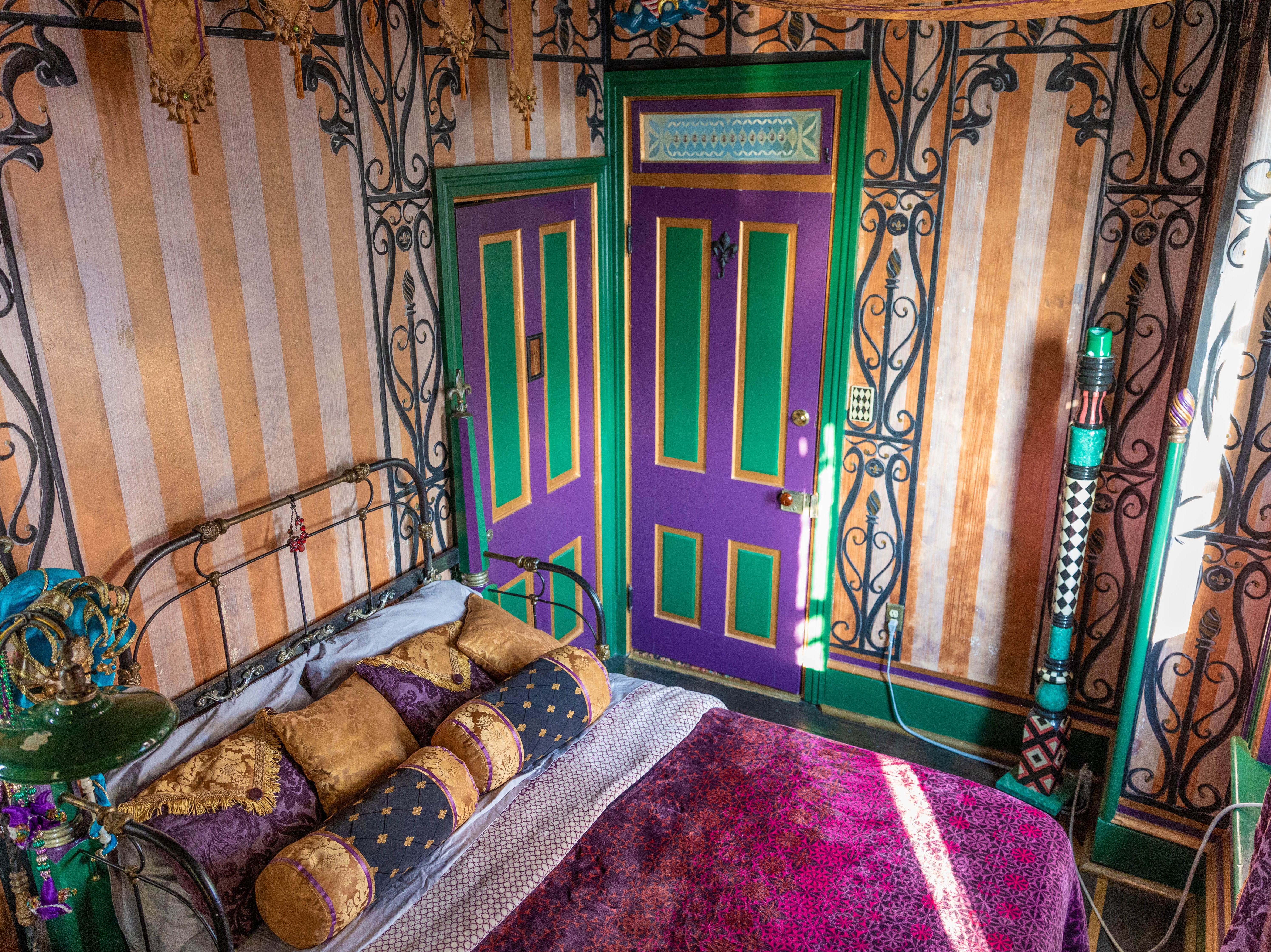 """Inside the """"New Olreans"""" room at Bube's Brewery. The third floor of the Victorian hotel is home to 8 speciality themed rooms and the """"grand suite."""""""