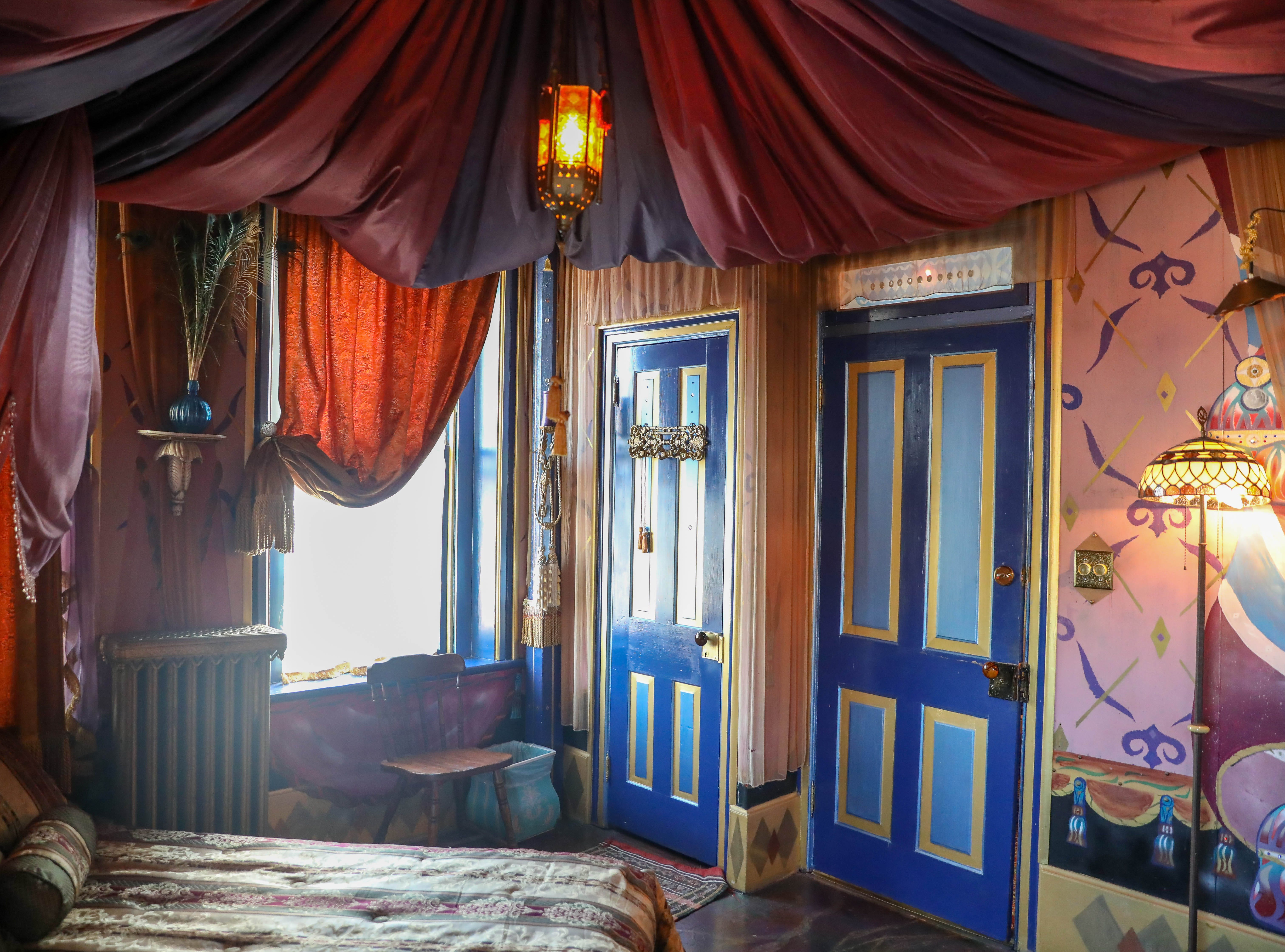"""Inside the """"Arabian Nights"""" room at Bube's Brewery. The room is one of 8 uniquely themed rooms available for patrons."""
