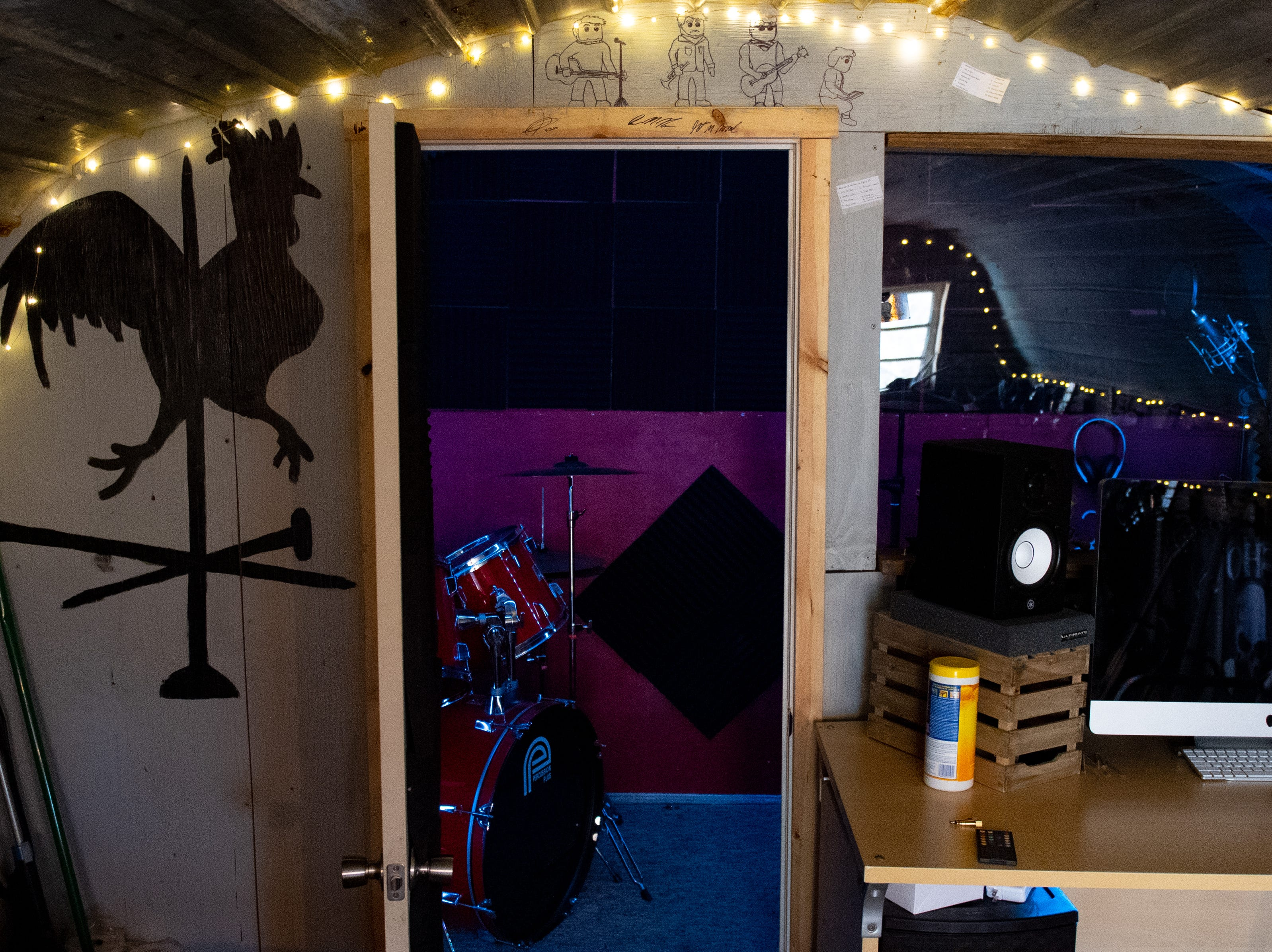 """Jake Puliti and three of his friends have enough equipment, including a drum set, inside the chicken coop they converted into a recording studio, to jam and record music. Puliti is an """"American Idol"""" hopeful whose audition is scheduled to air March 10."""