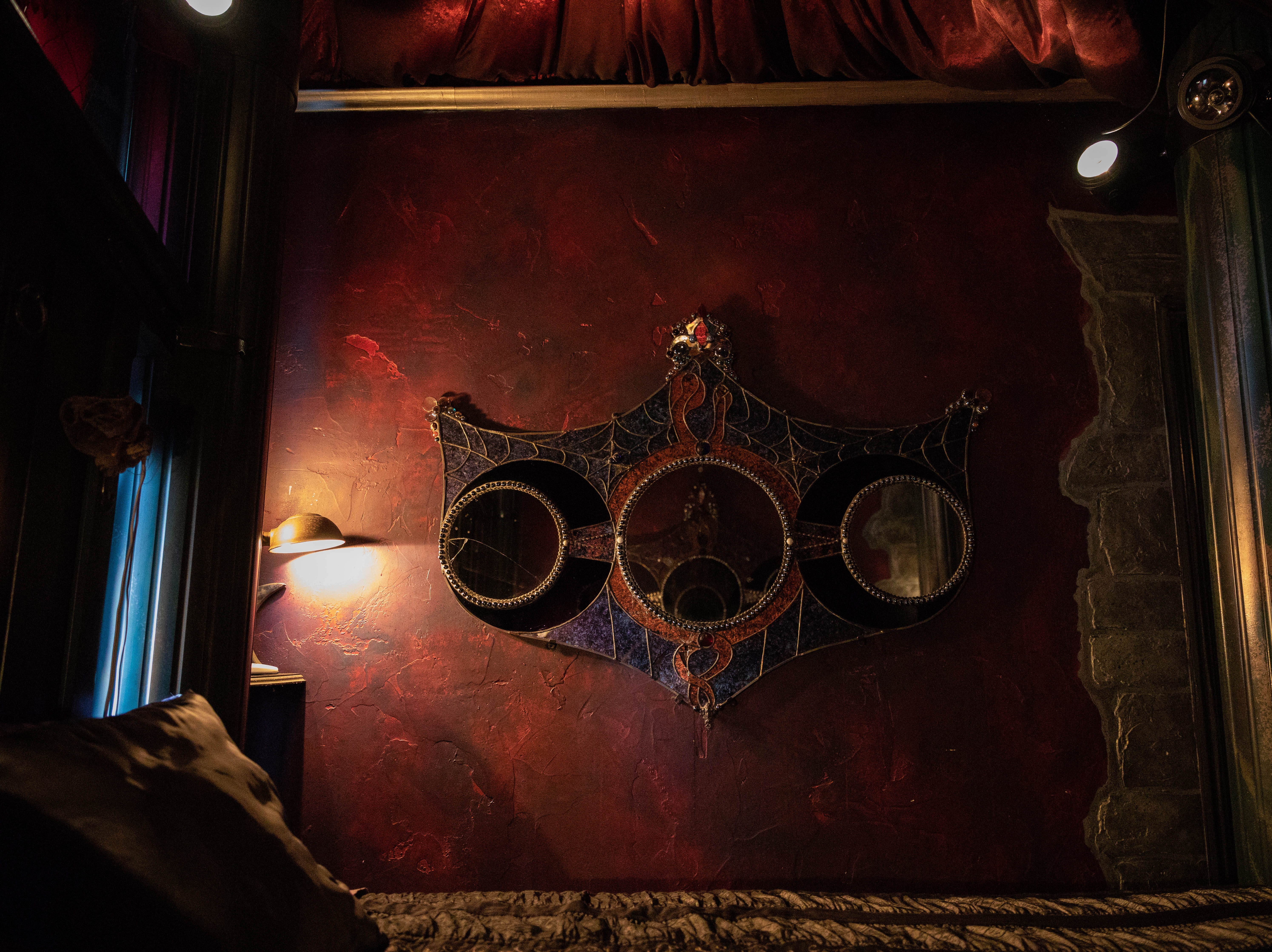 """Inside the """"Dark Princess"""" room at Bube's Brewery in Mt. Joy."""