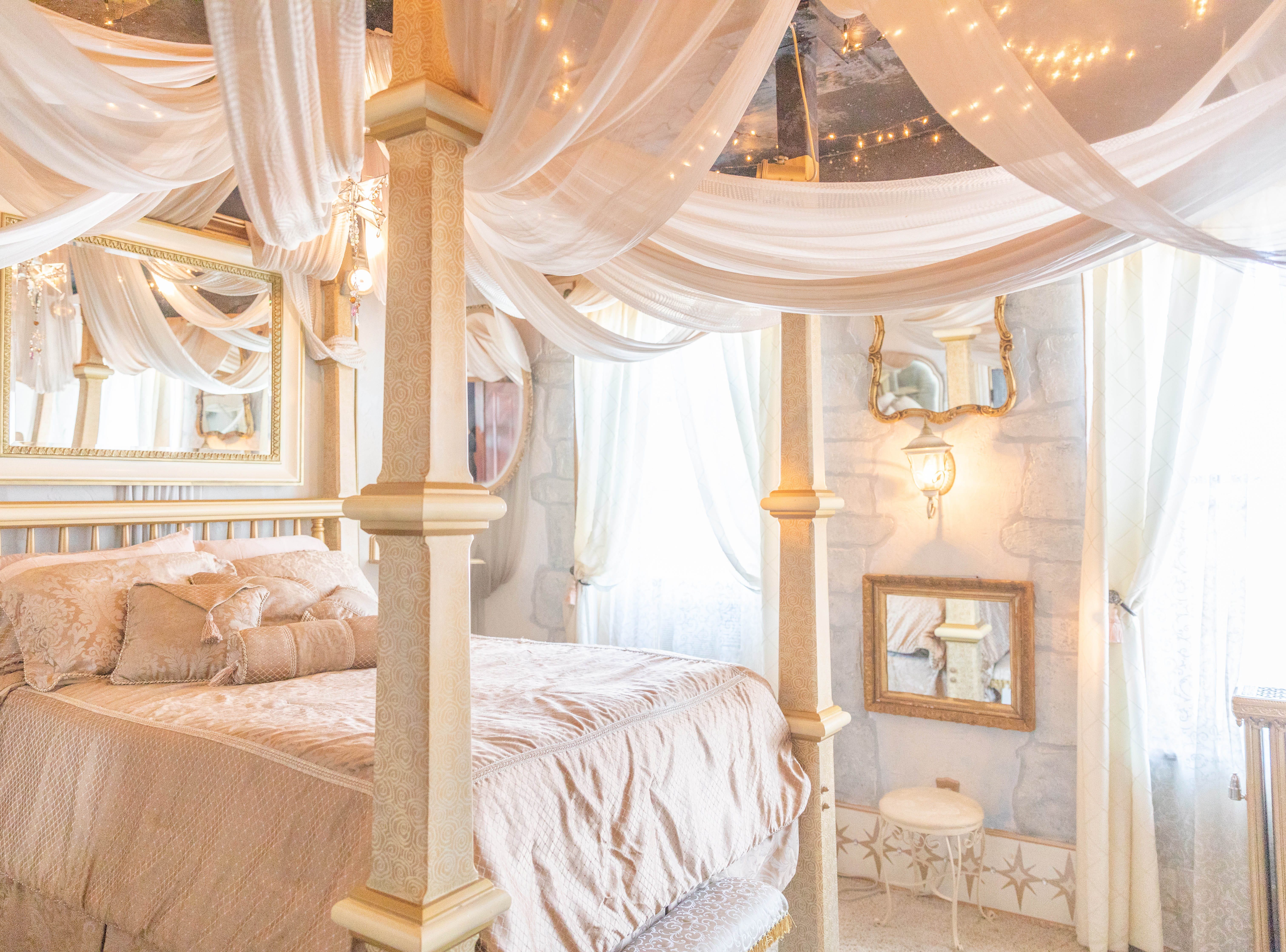 """Inside the  """"Good Princess"""" room at Bube's Brewery in Mt. Joy. The third floor of the Victorian hotel is home to 8 speciality themed rooms and a """"grand suite."""""""