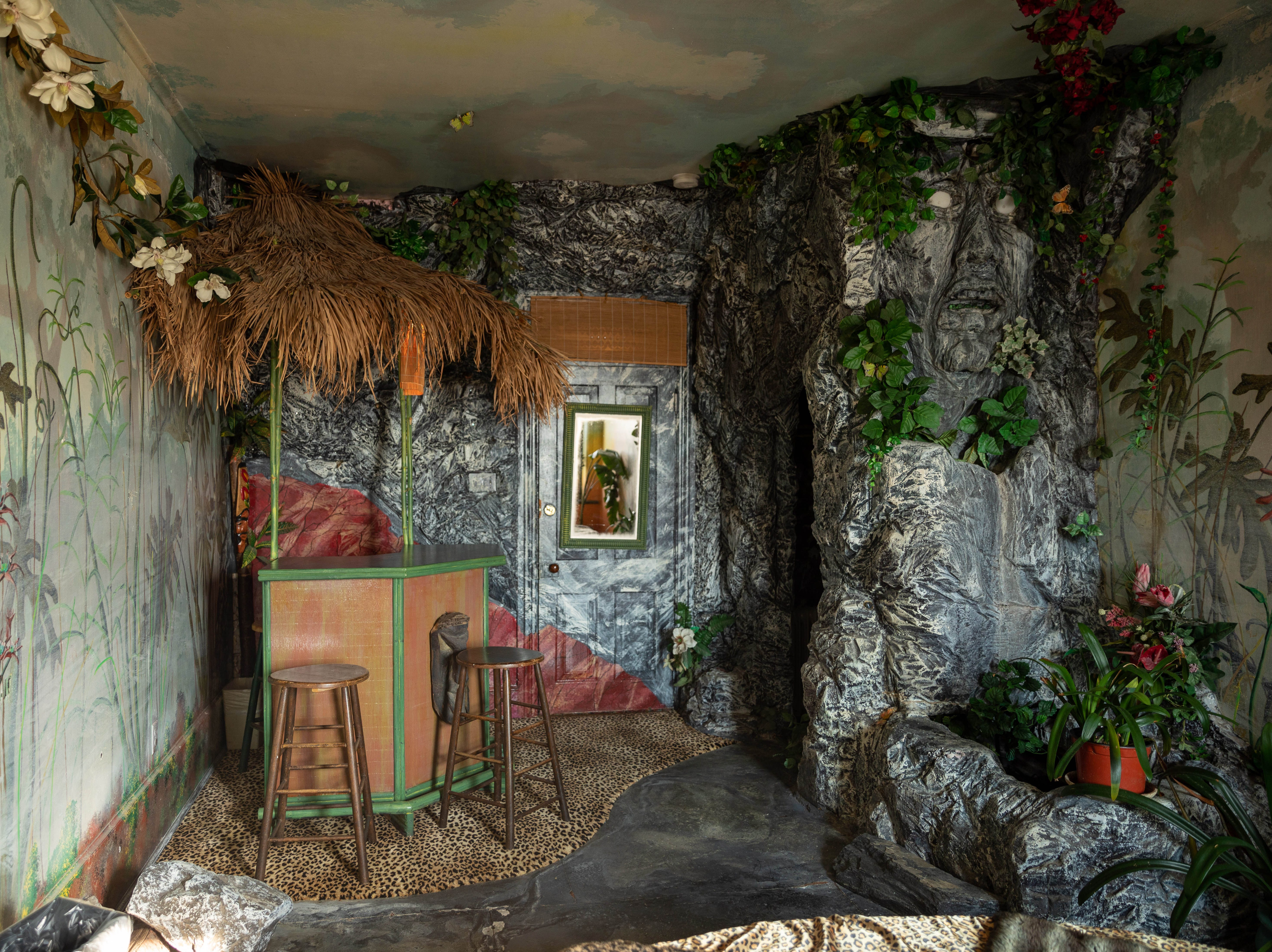 """Inside the  """"Jungle"""" room at Bube's Brewery in Mt. Joy. The third floor of the Victorian hotel is home to 8 speciality themed rooms and a """"grand suite."""""""