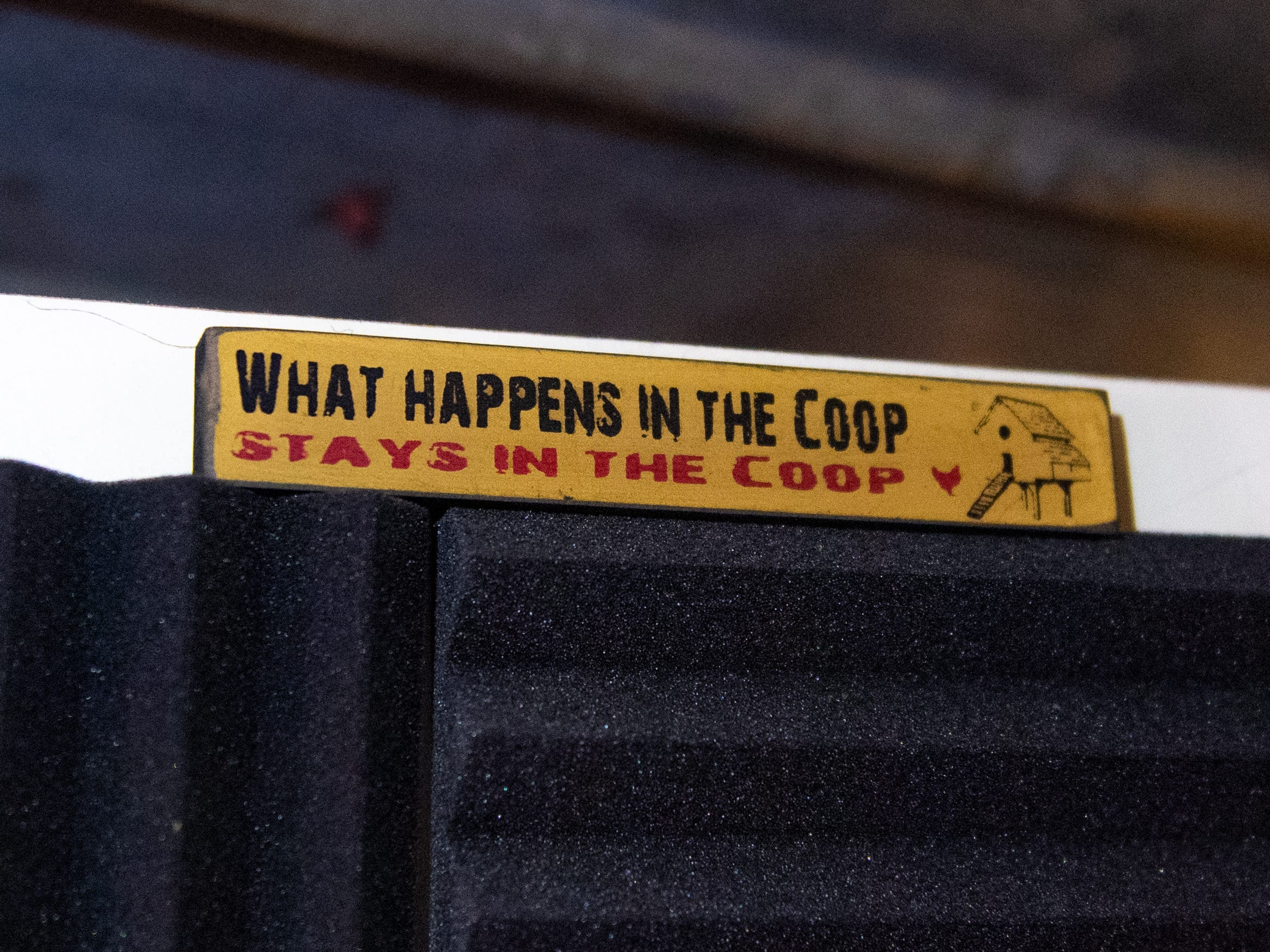 """There are reminders throughout the """"Crooked Coop Records"""" studio that the space was once a chicken coop. Jake Puliti, an """"American Idol"""" hopeful, whose audition is scheduled to air March 10, and his friends regularly jam and record music in the studio."""