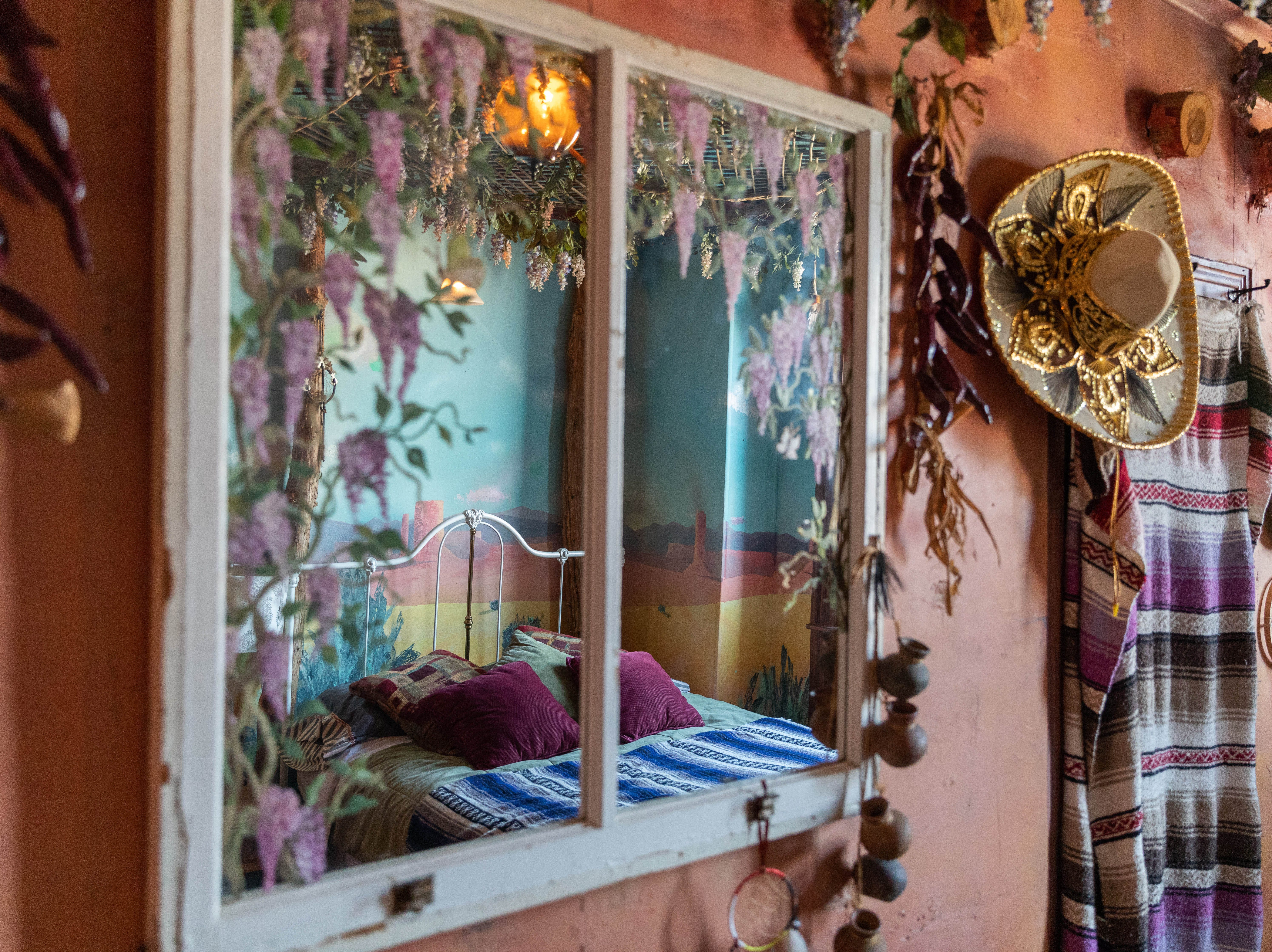 """Inside the """"Southwestern"""" room at Bube's Brewery. The third floor of the Victorian hotel is home to 8 speciality themed rooms and the """"grand suite."""""""