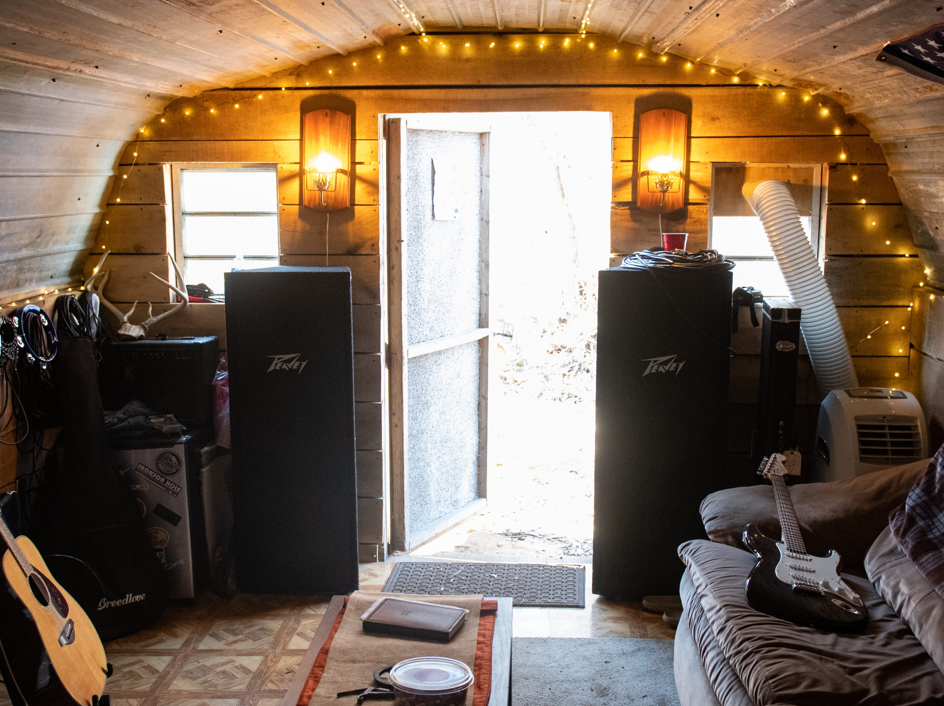 """Jake Puliti, an """"American Idol"""" hopeful, and his friends spend a lot of time in the their Newberry Township recording studio, converted from a chicken coop. The space is like a second home for all of them."""