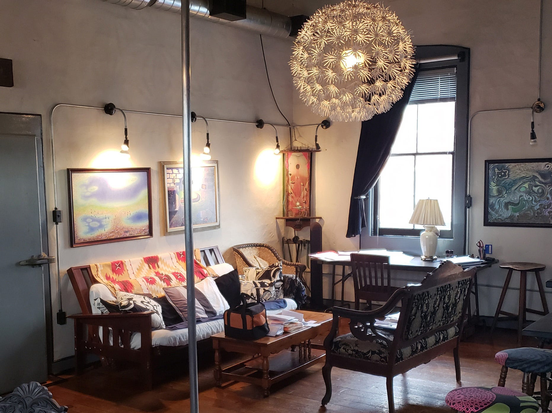 """Inside the """"grand suite"""" at Bube's Brewery in Mt. Joy."""