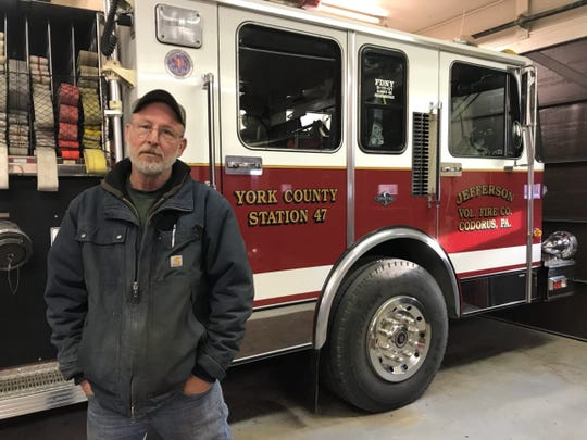 Gary Miller, president of Jefferson Volunteer Fire Co., has devoted almost 40 years to this occupation.