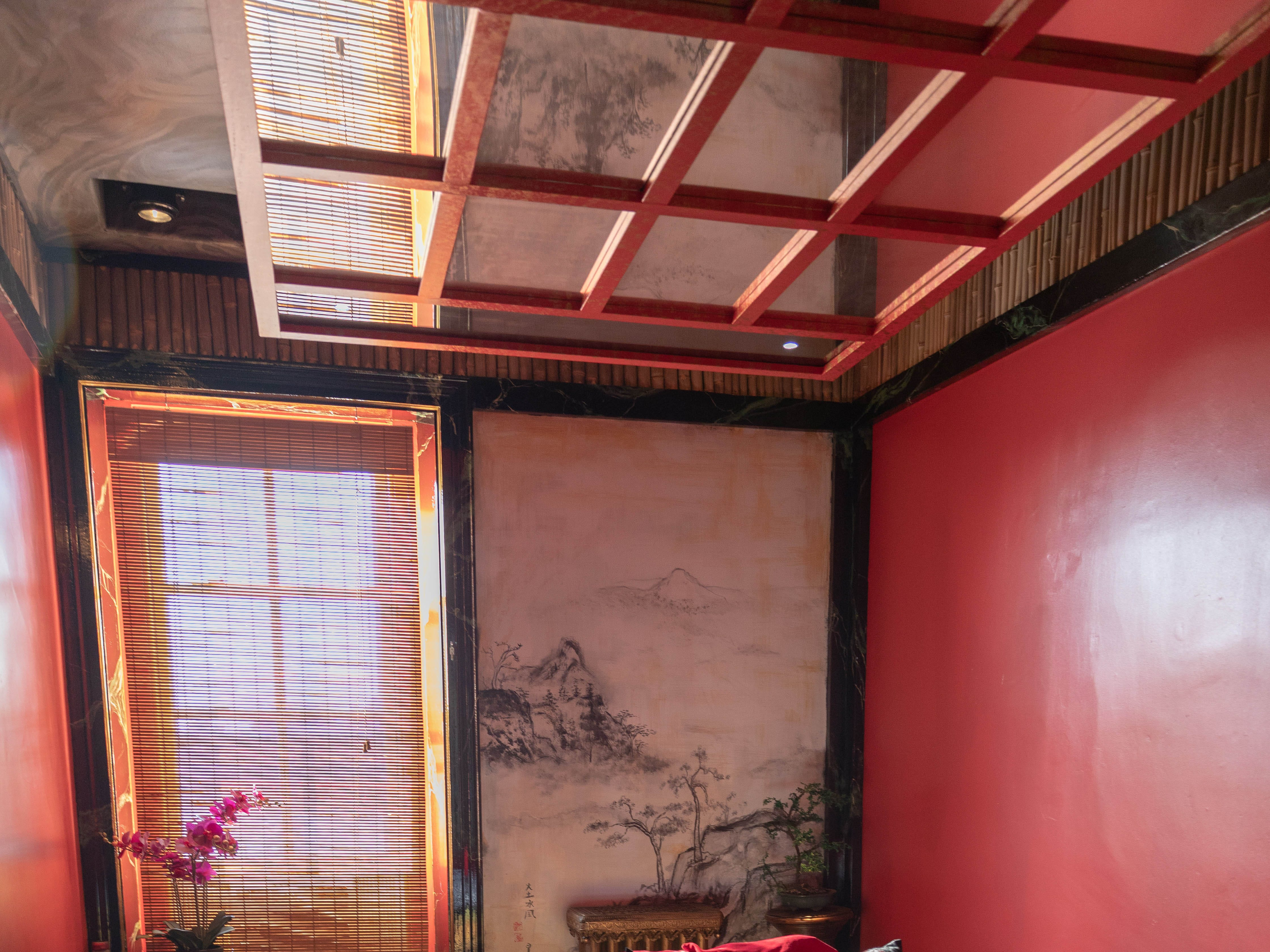 """Inside the  """"Asian Temple"""" room at Bube's Brewery in Mt. Joy. The third floor of the Victorian hotel is home to 8 speciality themed rooms and a """"grand suite."""""""
