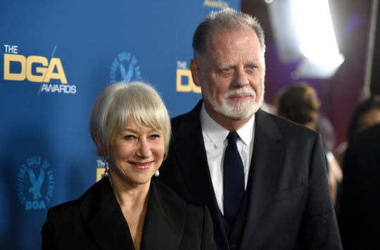 Helen Mirren, left, and Taylor Hackford arrive at the DGA Awards in Hollywood on Feb. 2. Hackford is buying a vacant lot in Reno on Evans Avenue across from Louis' Basque Corner. He bought the building that houses Louis' two years ago.