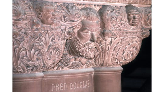 """For more than a century, a carving of the abolitionist Frederick Douglass was spelled with only one """"s."""""""