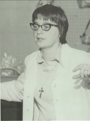 Sister Janice Nadeau in the 1976 McQuaid Jesuit High School yearbook.
