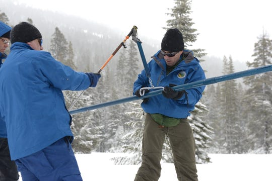 A measurement taken Thursday at Phillips Station near Sierra-at-Tahoe found 113 inches of snow depth compared to just 13½ inches a year ago.