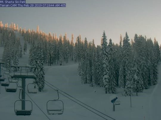 A view of Mt. Shasta Ski Park on the morning of Thursday, Feb. 28, 2019. The ski park has received plenty of snow this season, but recent rains have forced the resort to close until Friday, April 12.