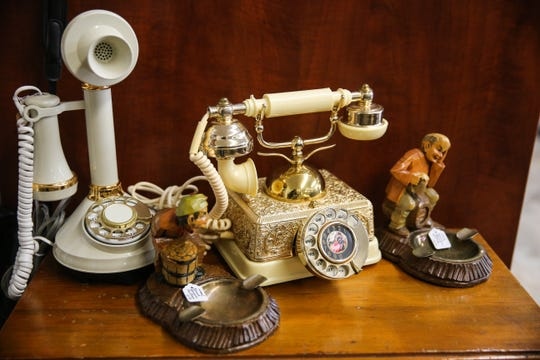 Antique phones for sale at Kaleidoscope Estate Sales and Consignments.