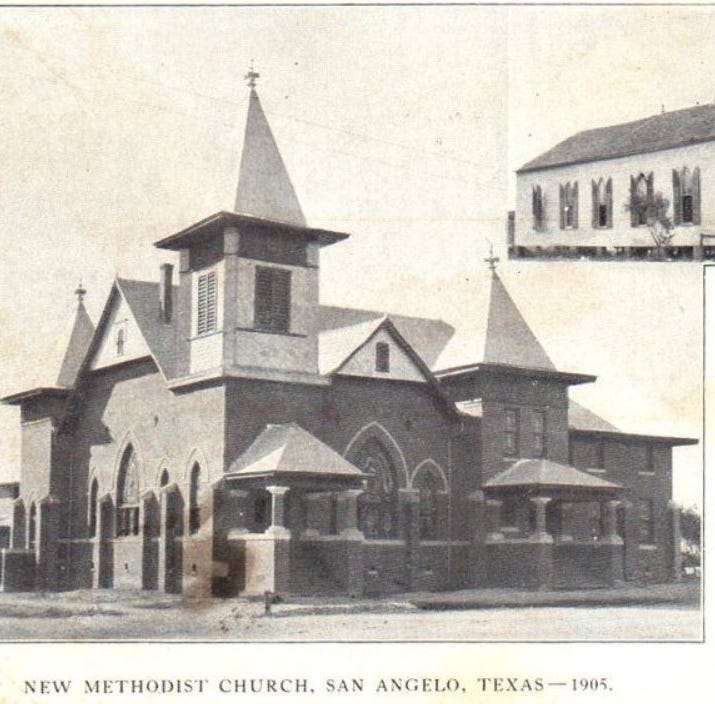 San Angelo's First Methodist established by the 'Fighting Parson' in 1882