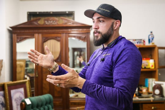 Ben Hays talks about change in items he has seen in estates Friday, Feb. 22, 2019, at Kaleidoscope Estate Sales and Consignments.